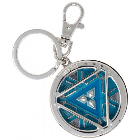 Iron Man 3 Arc Reactor Glowing Pewter Keychain