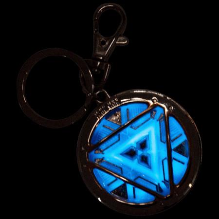 Iron Man 3 Arc Reactor Glowing Pewter Keychain
