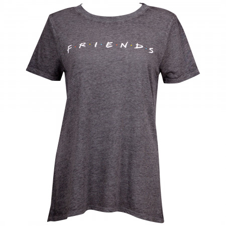 Friends Logo Juniors Grey T-Shirt