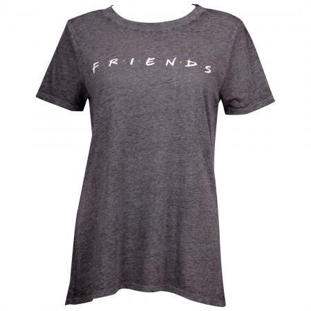 Friends Logo Juniors Grey T-Shirt