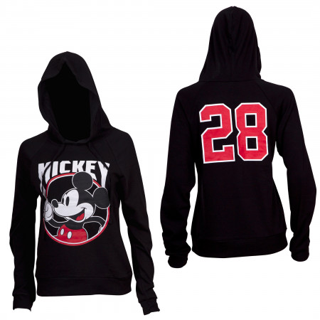 Mickey 28 Black Fitted Juniors Hoodie