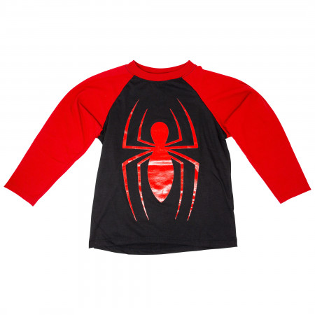 Spider-Man Kids Baseball Long Sleeve Raglan T-Shirt