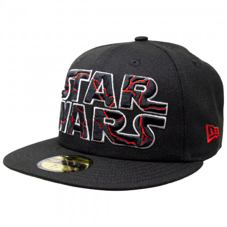 Star Wars The Rise of Skywalker Cracked Text Logo New Era 59Fifty Fitted Hat
