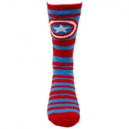 Marvel Captain America Reversible Men's Crew Socks