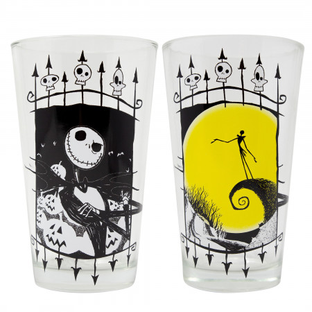 Nightmare Before Christmas Jack 2-Piece Pub Pint Glass Set