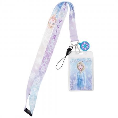 Disney Frozen 2 Elsa Dangle Lanyard