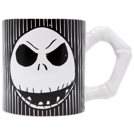 Nightmare Before Christmas Striped 20 Ounce Ceramic Mug