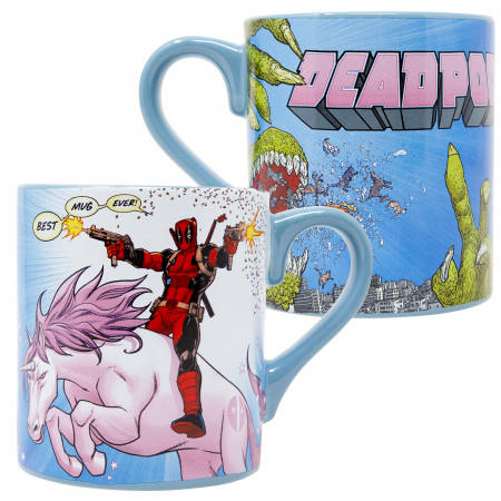 Deadpool Unicorn 14 Ounce Ceramic Mug