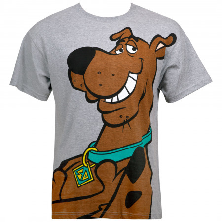 Scooby-Doo Men's Grey Big Face T-Shirt