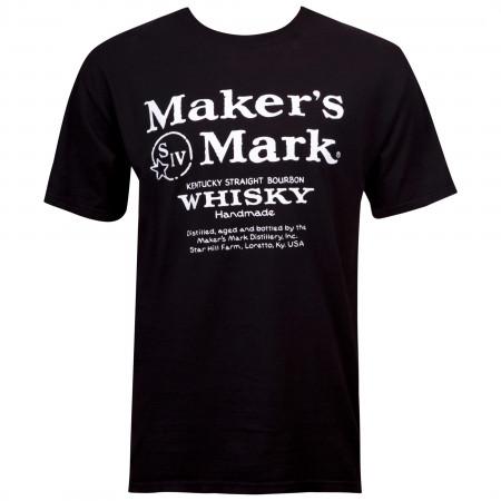 Makers Mark Eco Friendly Logo Black T-Shirt