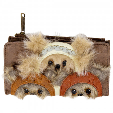 Ewok Faux Leather Wallet with Fur Trim