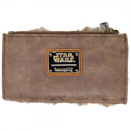 Ewok Faux Leather Wallet with Fur Trim