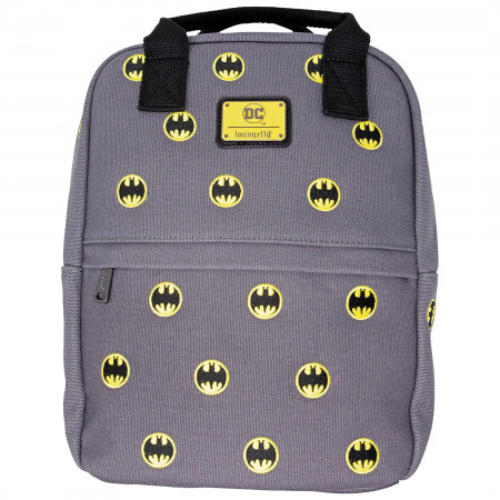 Batman Symbol Allover Print Canvas Mini Backpack