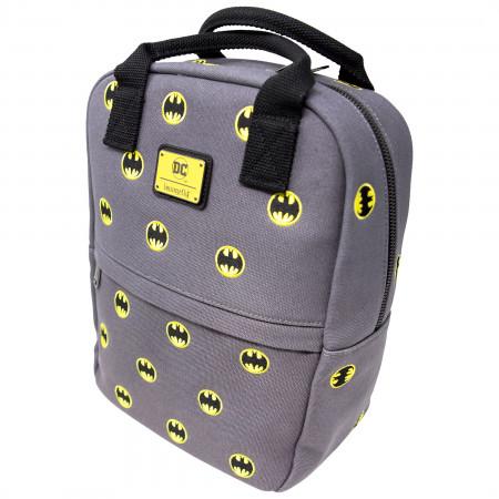 Batman Symbol Allover Print Canvas Mini Backpack
