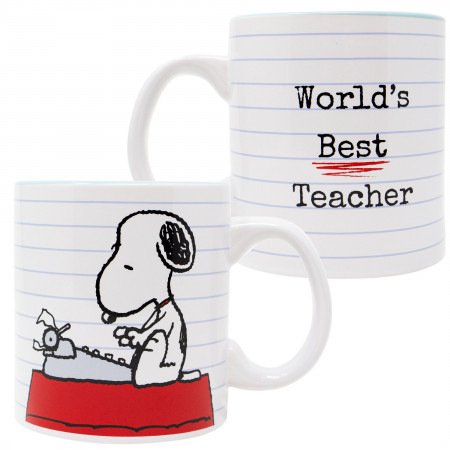 Peanuts Snoopy Worlds Best Teacher 20 Oz Mug