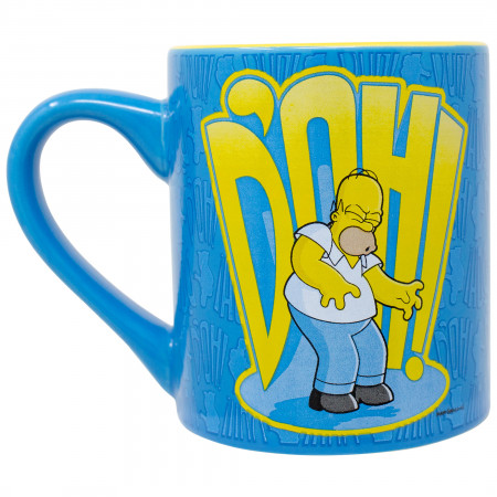 Simpsons 14 Ounce D'oh Ceramic Blue Mug