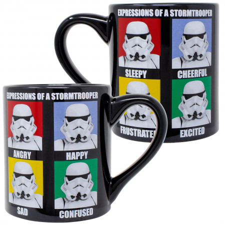 Star Wars Expressions of Stormtroopers 14 Oz Mug