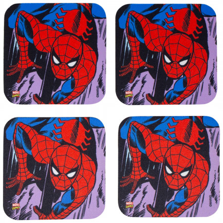 Marvel Spider-Man 4-Piece Neoprene Coaster Set