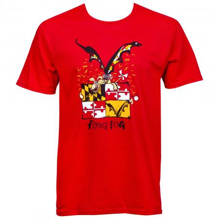 Flying Dog Maryland Athletic Red T-Shirt