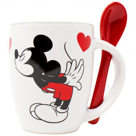 Disney Mickey and Minnie Kissing 4 Ounce Espresso Mug
