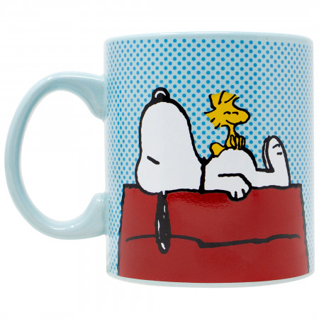 Peanuts Snoopy and Woodstock House 20oz Jumbo Ceramic Mug