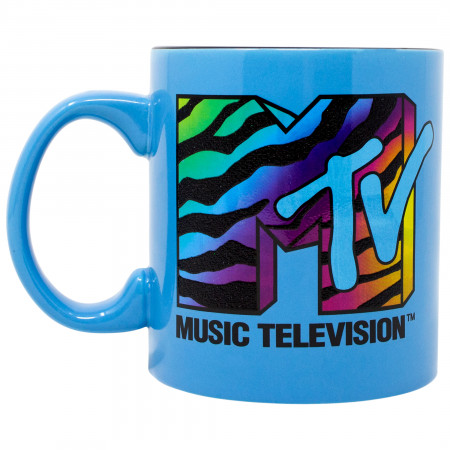 MTV Blue 20 Ounce Ceramic Mug