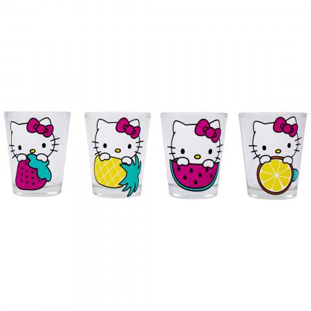 Hello Kitty 4-Pack Shot Glass Set