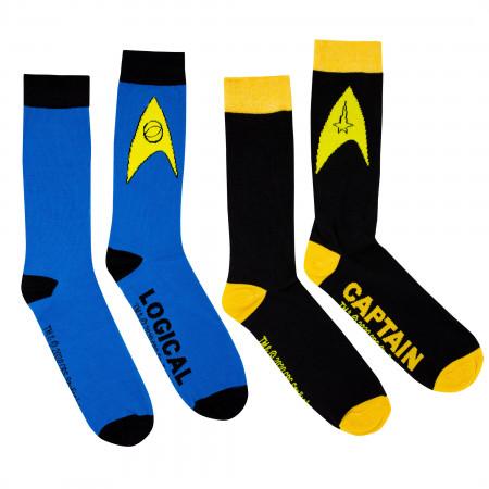 Star Trek Logical Captain 2-Pack Socks