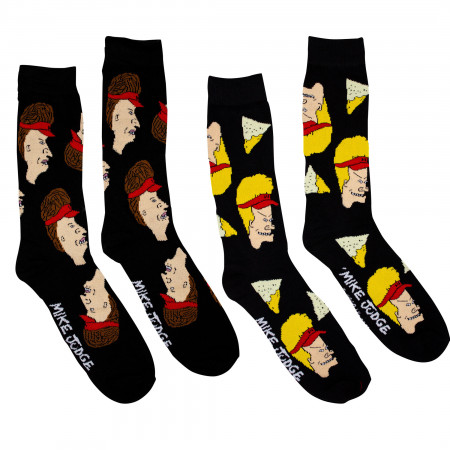 Beavis and Butthead Working Hard 2-Pack Socks