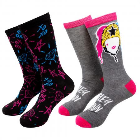 Harley Quinn Birds of Prey 2-Pack Socks
