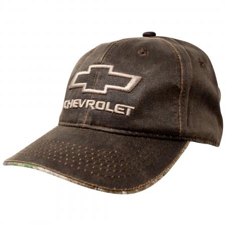 Chevrolet Logo Oil Washed Snapback Hat