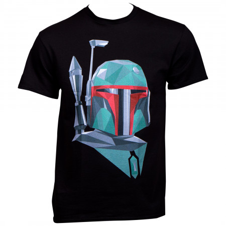Star Wars Boba Fett Polygonal Mask T-Shirt