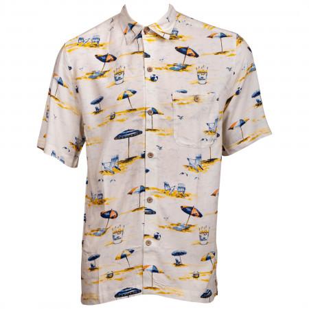 Corona Bucket Beach Button Up Hawaiian Shirt