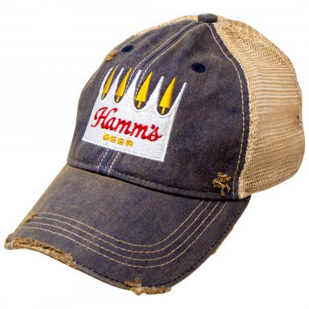 Hamm's Beer Weathered Adjustable Mesh Trucker Hat