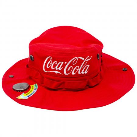Coca Cola Canvas Boonie With Bottle Opener Bucket Hat