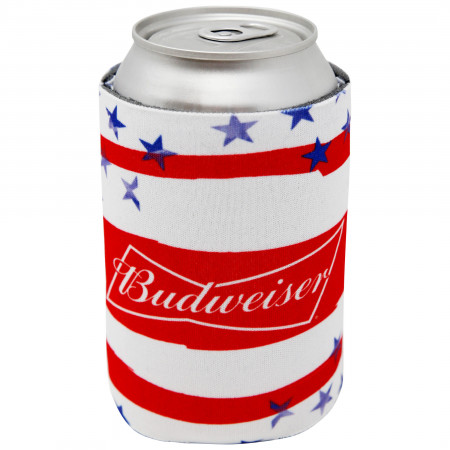 Budweiser USA Flag Can Cooler