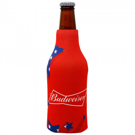 Budweiser Shooting Stars Red Zip Up Bottle Suit