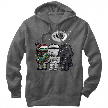 Star Wars Boba It's Cold Gray Lightweight Hoodie