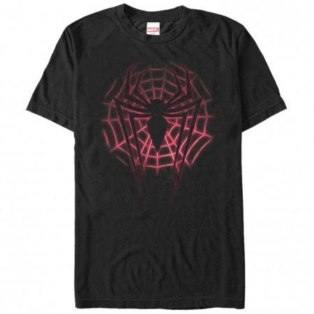 Spiderman Web Logo Black Mens T-Shirt