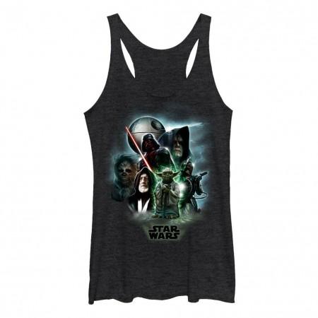 Star Wars Starwars Universe Black Juniors Racerback Tank Top