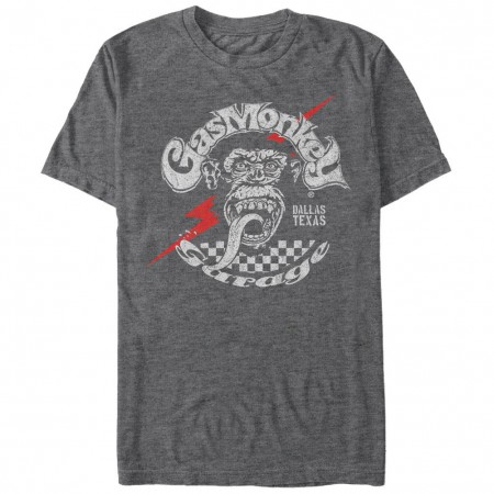 Gas Monkey Garage Texas Bolt Gray T-Shirt