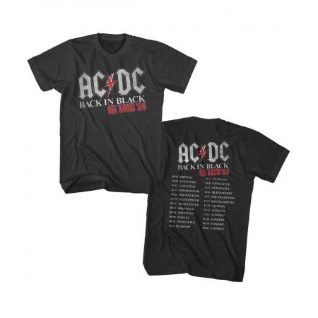 AC/DC Back in Black UK Tour 1980 T-Shirt
