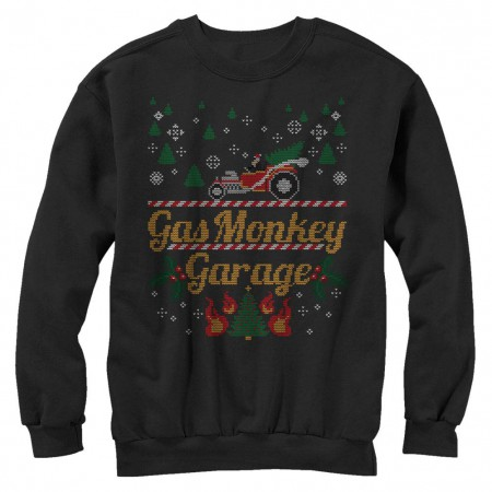 Gas Monkey Garage Monkey Sweater Black Long Sleeve T-Shirt