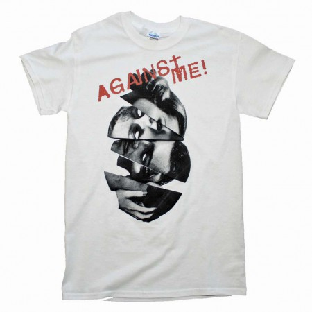 Against Me Men's White Heads T-Shirt