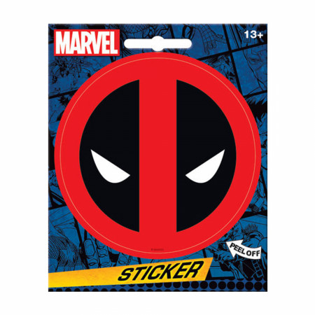 Deadpool Mask Logo Sticker