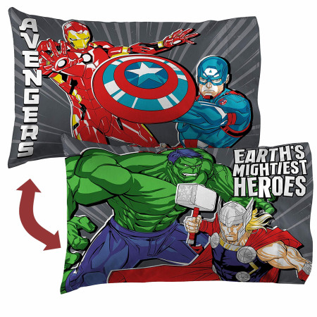 Marvel Avengers Mightiest Heroes Reversible Pillow Case