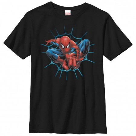 Spiderman Web Slinger Black Youth T-Shirt