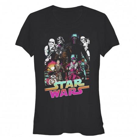 Star Wars Episode 7 Desert Storm Black T-Shirt