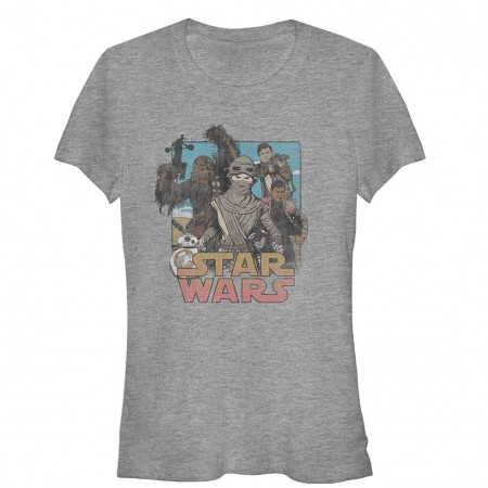 Star Wars Episode 7 Leading Lady Gray T-Shirt