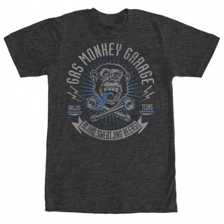 Gas Monkey Garage Reset Garage Gray T-Shirt